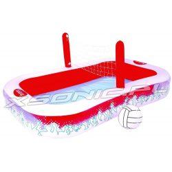Dmuchany basen z siatkówką i piłką w zestawie dla dzieci Bestway 54125