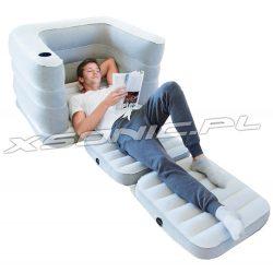Rozkładany fotel 2w1 jednoosobowy materac welurowy sofa Bestway 75065
