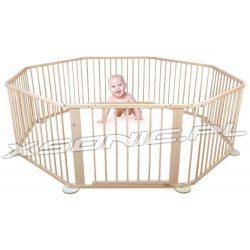 Uniwersalny drewniany kojec z bramką do domu lub na zewnątrz możliwość konfiguracji
