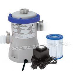 Pompa filtrująca Bestway 1249 litrów/godz do basenów ogrodowych filtr w komplecie z transformatorem 12V