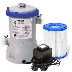 Pompa filtrująca Bestway 2006 litrów/godz do basenów ogrodowych filtr z transformatorem na 12V