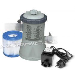 Pompa filtrująca z filtrem 1250 litrów/godz do basenów ogrodowych na 12V 28602GS Intex