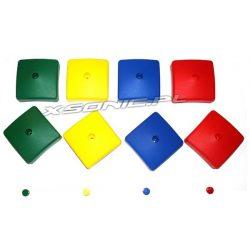 Zaślepka kwadratowa na koniec belki kwadratowej 7 x 7 cm 4 kolory