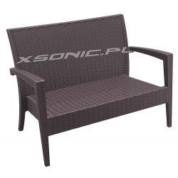 Elegancka sofa ława z technorattanu Miami do ogrodu na taras 2 kolory