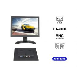 Monitor do zabudowy OPEN FRAME 8 cali LED VGA HDMI metalowa obudowa