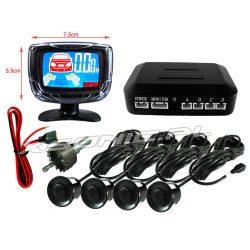 Czujnik parkowania z wyświetlaczem LCD LED 4 czujki w komplecie kontrola dystansu od przeszkód