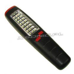 Poręczna lampa warsztatowa LED 24 diody SMD lekka obudowa ABS