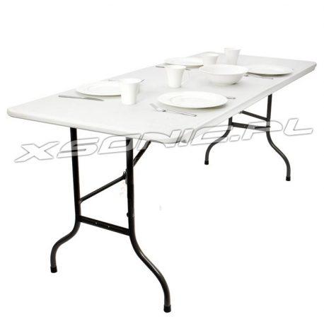 Rozkładany stół cateringowy 180 x 75 x 71 cm wygodne przenoszenie turystyczny