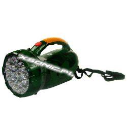 Ręczna latarka z akumulatorem 29 diod kamuflaż moro rączka do trzymania