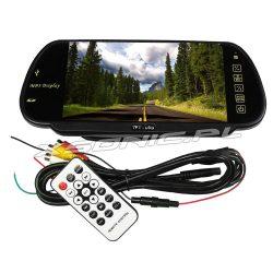 Monitor LCD 7 cali w lusterku wstecznym samochodu do kamer cofania MP5 Bluetooth pilot