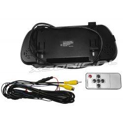 Monitor w lusterku wstecznym samochodu do kamer cofania 2 x AV-in o przekątnej 7 cali