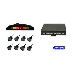 Czujnik parkowania NVOX 8 czujników buzzer wyświetlacz LED na przód oraz tył samochodu