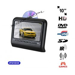 Przenośny odtwarzacz samochodowy montowany na prętach zagłówka NVOX 10 cali TFT LCD HD SD USB