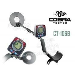 Wykrywacz metalu detektor Cobra Tector CT-1069 dyskryminacja metali cewka 215 mm auto identyfikacja wykrytego przedmiotu
