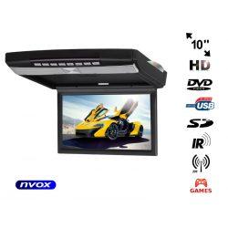 Monitor podwieszany NVOX z matrycą 10,2 cali z napędem DVD odtwarzacz SD/USB transmiter FM nadajnik IR