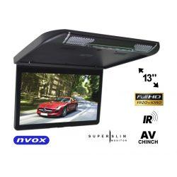 Monitor podwieszany marki NVOX ekran 13,3 cala FULL HD dwa wejścia AV wbudowane głośniki nadajnik IR