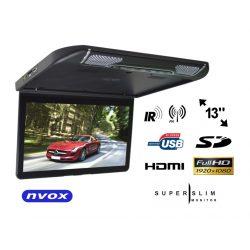 Podwieszany monitor samochodowy LED 13.3' USB SD 2x AV wejście HDMI