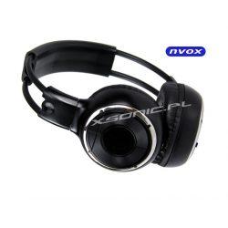 Słuchawki bezprzewodowe na podczerwień IR marki NVOX w zestawie twardy futerał