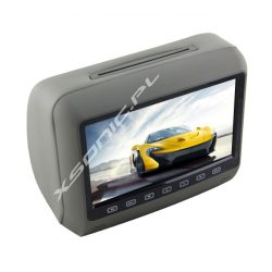 """Zagłówek multimedialny do samochodu ekran LCD 7"""" odtwarzacz DVD USB SD głośniki"""