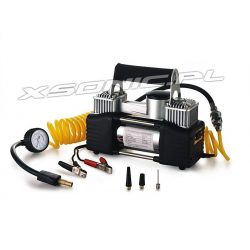 Kompresor dwutłokowy idealny do samochodów i ciężkiej pracy wytrzymały 85l/min marki Titanium
