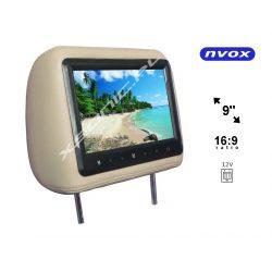 Zagłówek samochody NVOX z wbudowanym ekranem LCD 9 cali marki SHARP dwa wejścia wideo