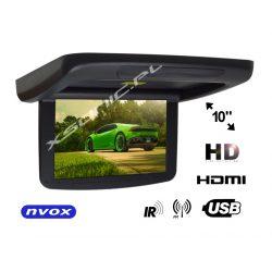 Monitor podwieszany marki NVOX z matrycą LED 10 cali HD automatyczne otwiera i zamyka ekran transmiter FM IR