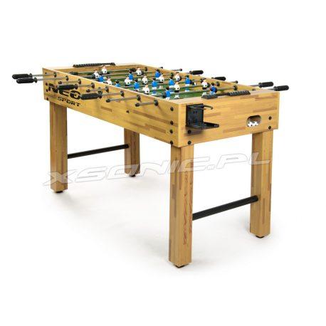 Duży stół do gry w piłkarzyki Neo-Sport z uchwytem na napój MDF imitujący drewno