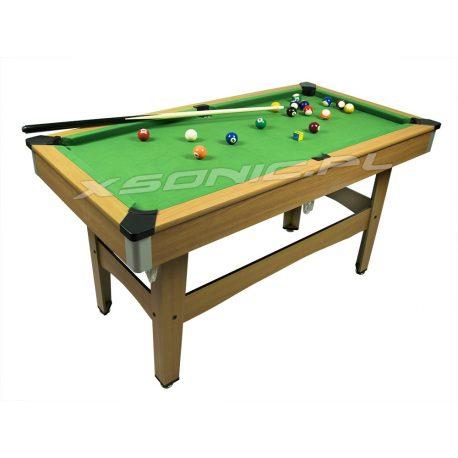 Duży stół bilardowy z kompletem akcesoriów NEOSPORT 126,5 x 65 x 68 cm trójkąt kreda bile