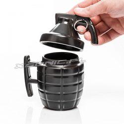 Kubek granat z zawleczką i pokrywką biały lub czarny wojskowy sapera