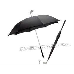 Niespotykany parasol golfisty jak kij golfowy manualny