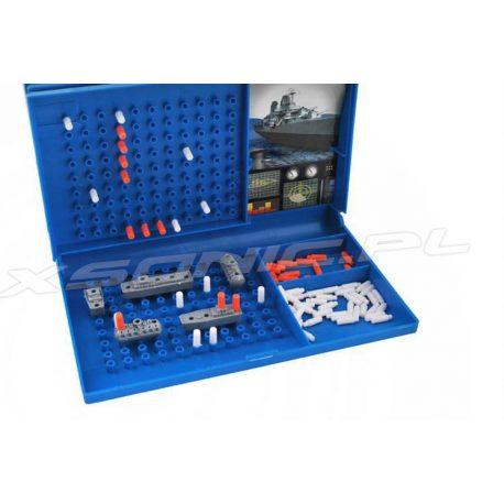 Gra strategiczna w statki bitwa morska kieszonkowa wersja przenośna pionki walizka