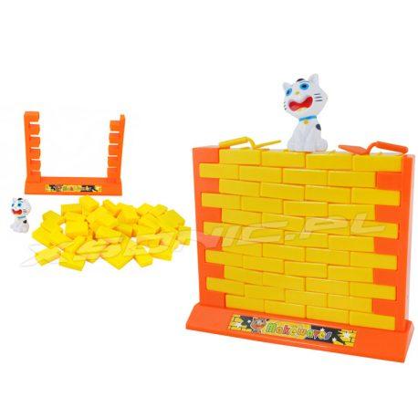 Gra rodzinna dla dzieci zręcznościowa układanka ściana klocki