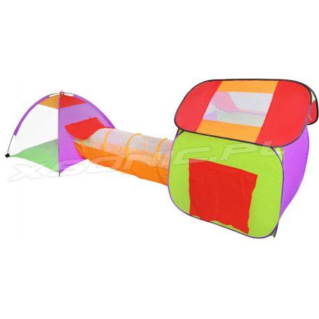 Domek dla dzieci tunel namiot z piłeczkami 200 sztuk kolorowy