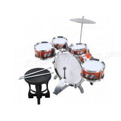 Perkusja dla dzieci bębny talerze krzesło bęben pałeczki zestaw dziecięcy