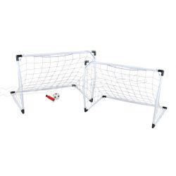 Zestaw bramek piłkarskich dla małego sportowca bramka piłka i pompka w zestawie 2 małe lub jedna duża