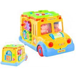 Edukacyjny autobus sam jeździ zabawka multimedialna książka dla maluchów