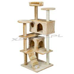 Domek legowisko PETHOUS drapak dla kota wysokość 130 cm platformy domki schody do wspinaczki