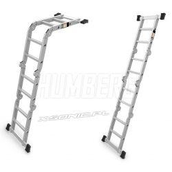 Drabina pzegubowa - platforma 4x2 aluminiowa