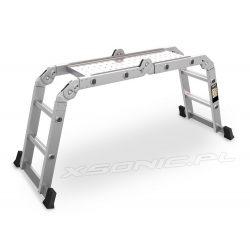 Drabina przegubowa Humberg 4x2 aluminiowa składana platforma robocza podest