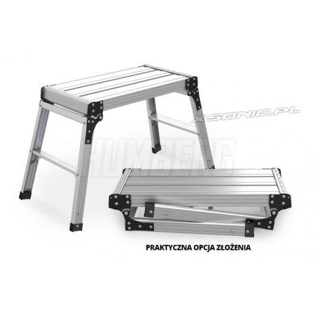 Aluminiowa platforma robocza podest składany 75 x 30 cm do domu i ogrodu