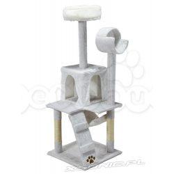 Domek legowisko drapak dla kota wysokość 132 cm biały