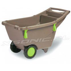 Głęboka taczka ogrodowa do prac domowych plastikowa 140 litrów