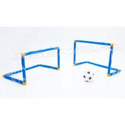 Zestaw do gry w piłkę nożną dwie bramki z siatką piłka i pompka