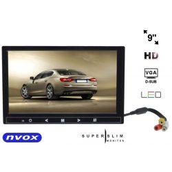 Monitor samochodowy z matrycą LED o przekątnej 9 cali - NVOX - wyposażony w złącze VGA