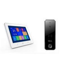 Videodomofon z dotykowym panelem LCD 7 cali i kamerą sterowanie elektrozaczepem furtki Reer Electronics