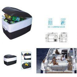 Lodówka 40 litrów zamrażarka turystyczna samochodowa sprężarkowa NVOX z kompresorem K41Y 12 i 230V
