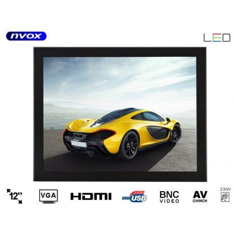 Monitor do zabudowy OPEN FRAME 12 cali Digital LED Hi-Contrast VGA HDMI