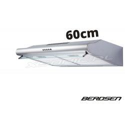 Okap kuchenny podszafkowy 60 cm do zabudowy Berdsen kolor INOX biały lub czarny