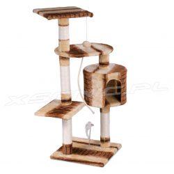 Domek legowisko drapak dla kota wysokość 89 cm platformy gruby sznur domek