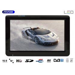 Telewizor przenośny NVOX 10 cali LED HD tuner DVB-T złącze AV nagrywanie na pamięć USB